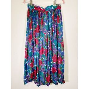 Vintage Monsoon Floral Button Up Maxi Skirt